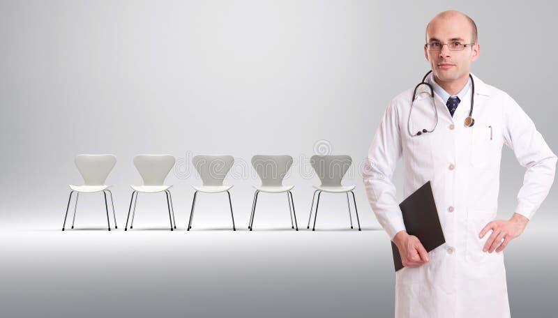 Lista de espera dos pacientes fotografia de stock royalty free