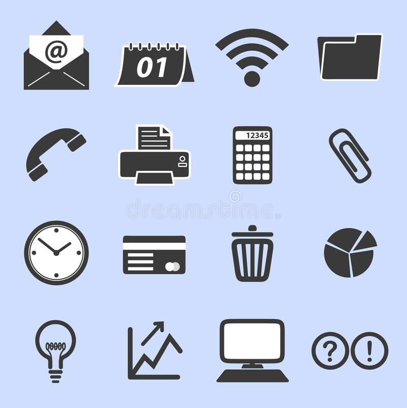 Lista de iconos relacionados con el mercado foto de archivo libre de regalías
