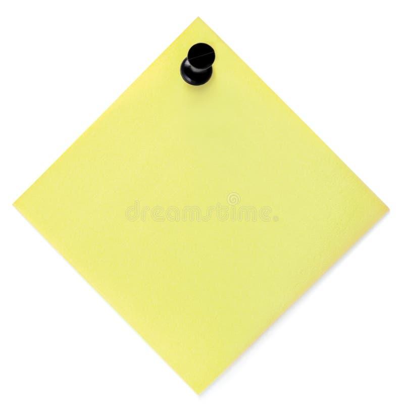 Lista De Lío Amarilla En Blanco Con El Pasador Fotografía de archivo libre de regalías