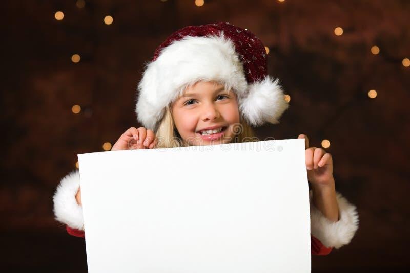 Lista de la Navidad de deseos foto de archivo libre de regalías