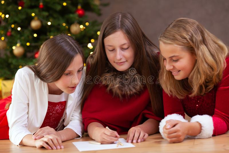 Lista de la Navidad de deseos fotos de archivo