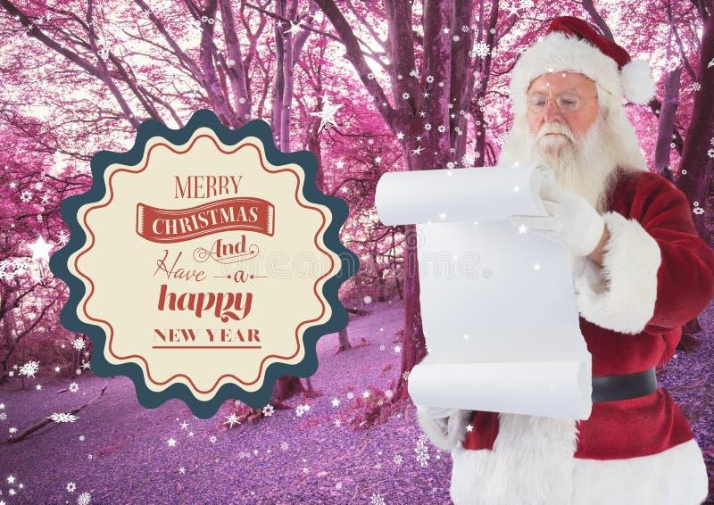 Lista de objetivos de la lectura de Santa Claus fotografía de archivo libre de regalías