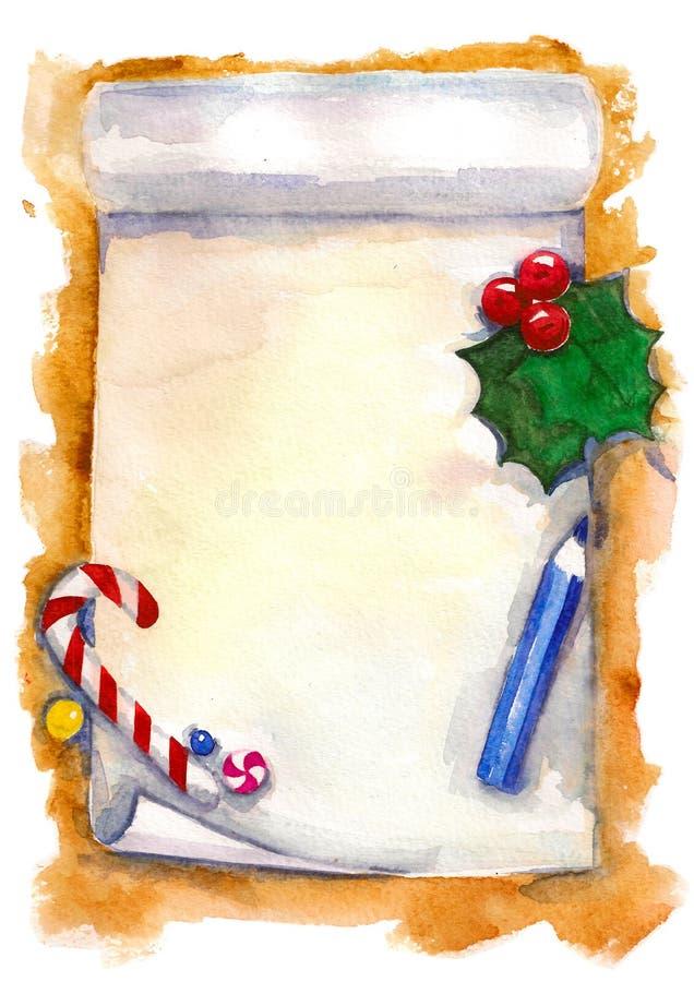 Lista de objetivos de Navidad foto de archivo libre de regalías