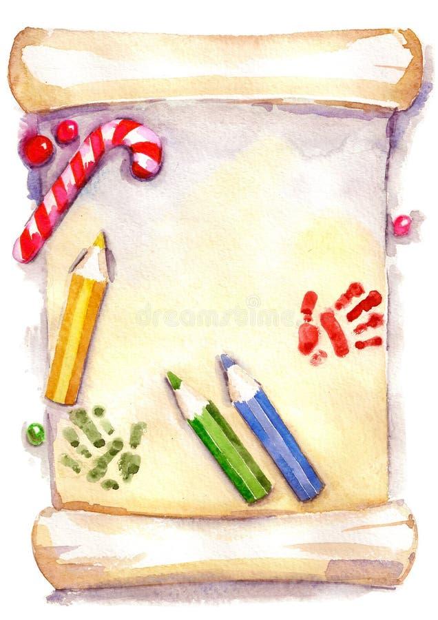 Lista de objetivos de Navidad fotos de archivo libres de regalías