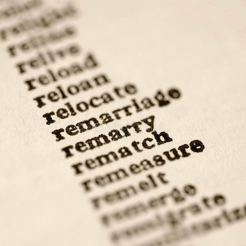 Lista de palabras. imagen de archivo libre de regalías
