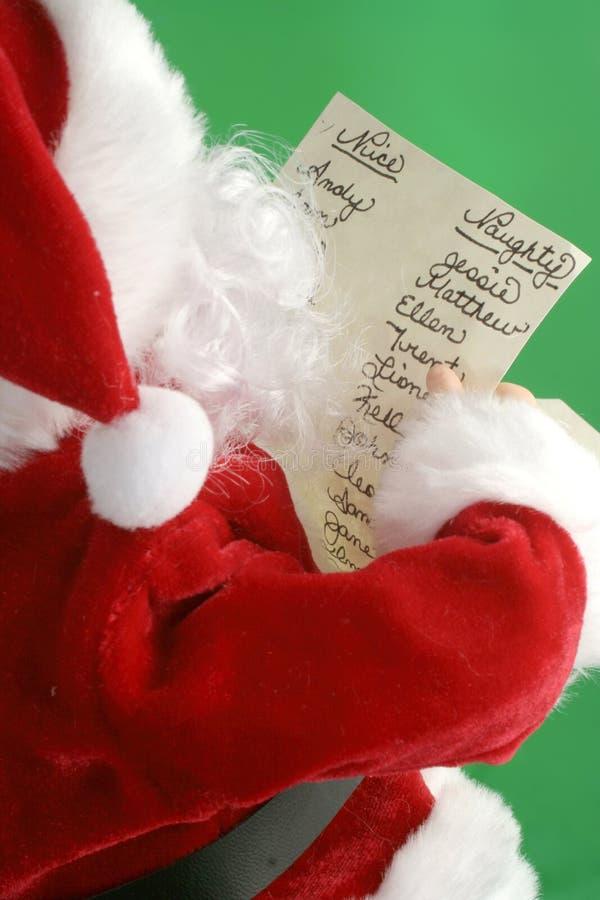 Lista de Papá Noel fotos de archivo libres de regalías