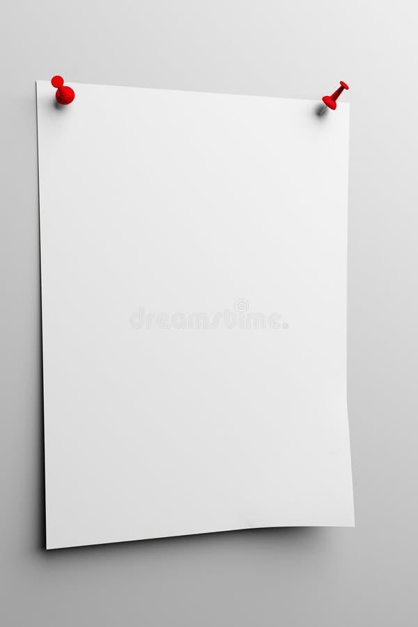 Lista de papel ilustração do vetor