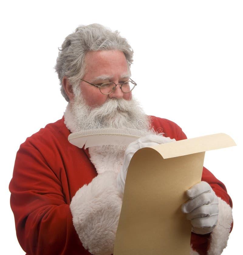 Lista de Santa fotos de stock