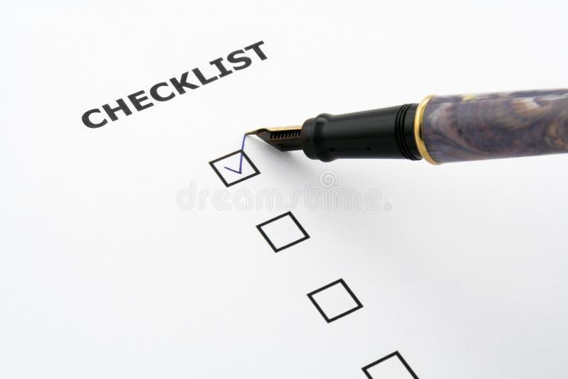 Lista de verificação fotografia de stock
