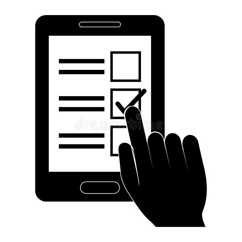 lista de verificação com sinal ilustração do vetor