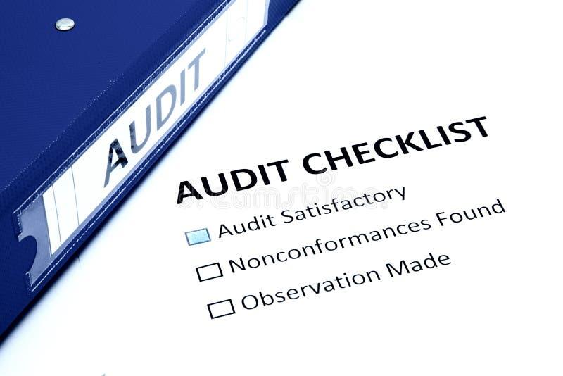 Lista de verificação da auditoria fotos de stock