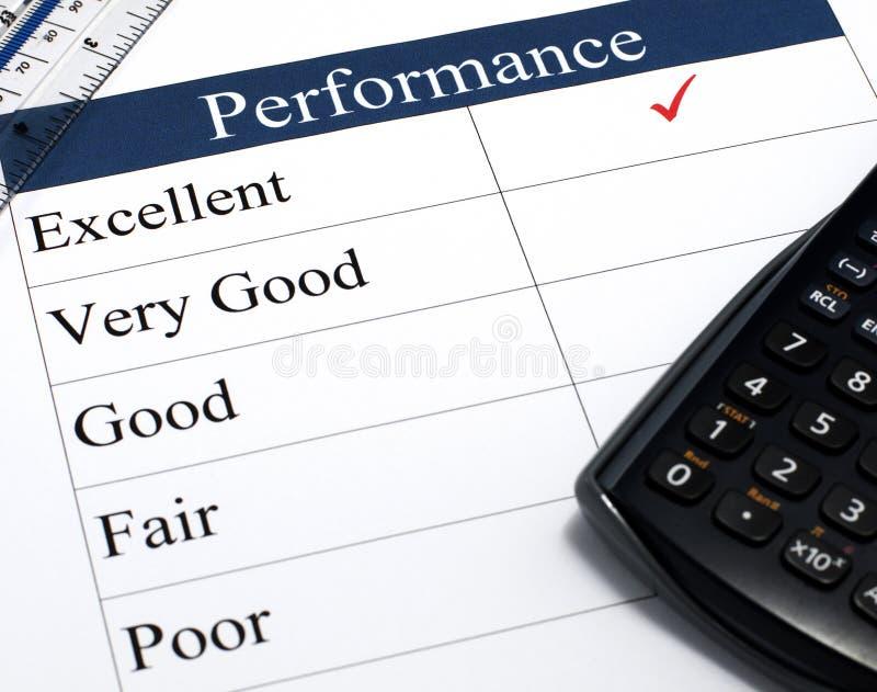 Lista de verificação do desempenho imagens de stock