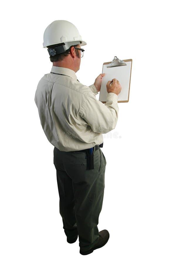 Lista de verificação do inspector da segurança imagens de stock royalty free