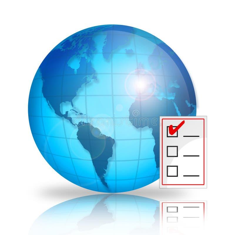 Lista de verificação do mundo ilustração do vetor
