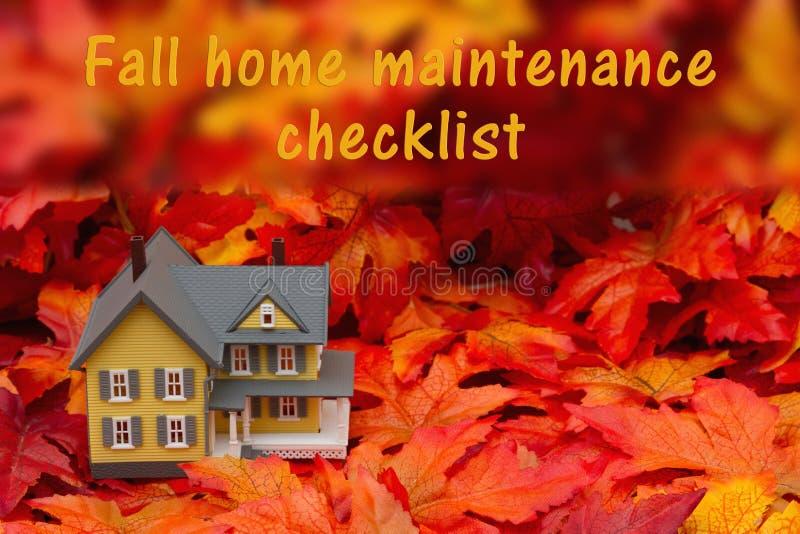 Lista de verificação home da manutenção para o outono ilustração do vetor