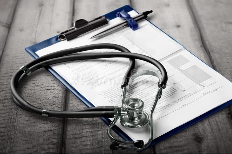 Lista de verificação médica foto de stock