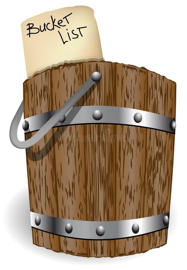 Lista del cubo stock de ilustración