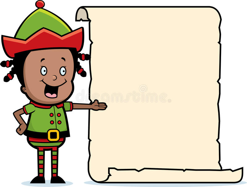 Lista del duende de la Navidad libre illustration