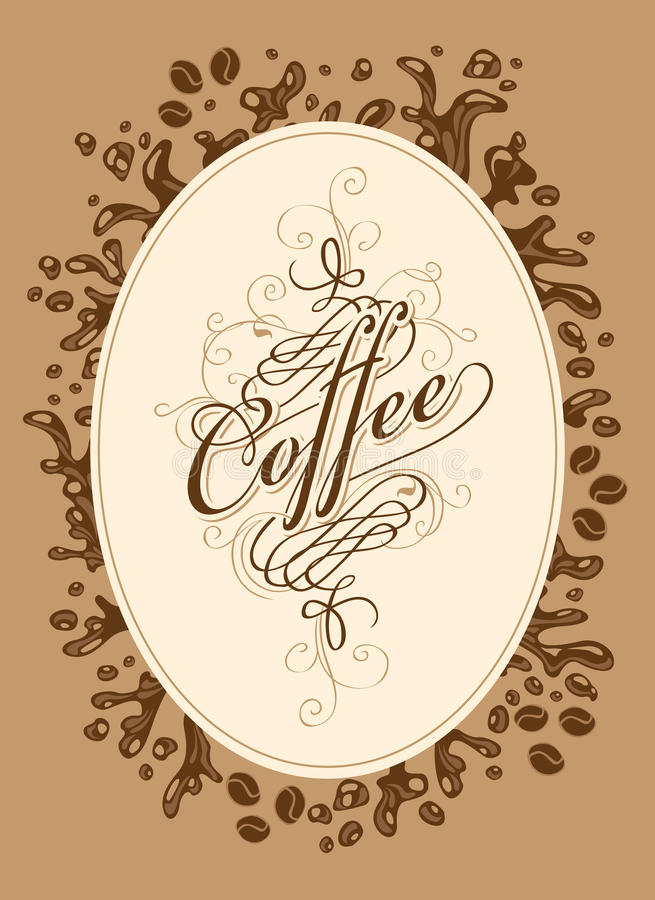 Lista del menú para el café ilustración del vector