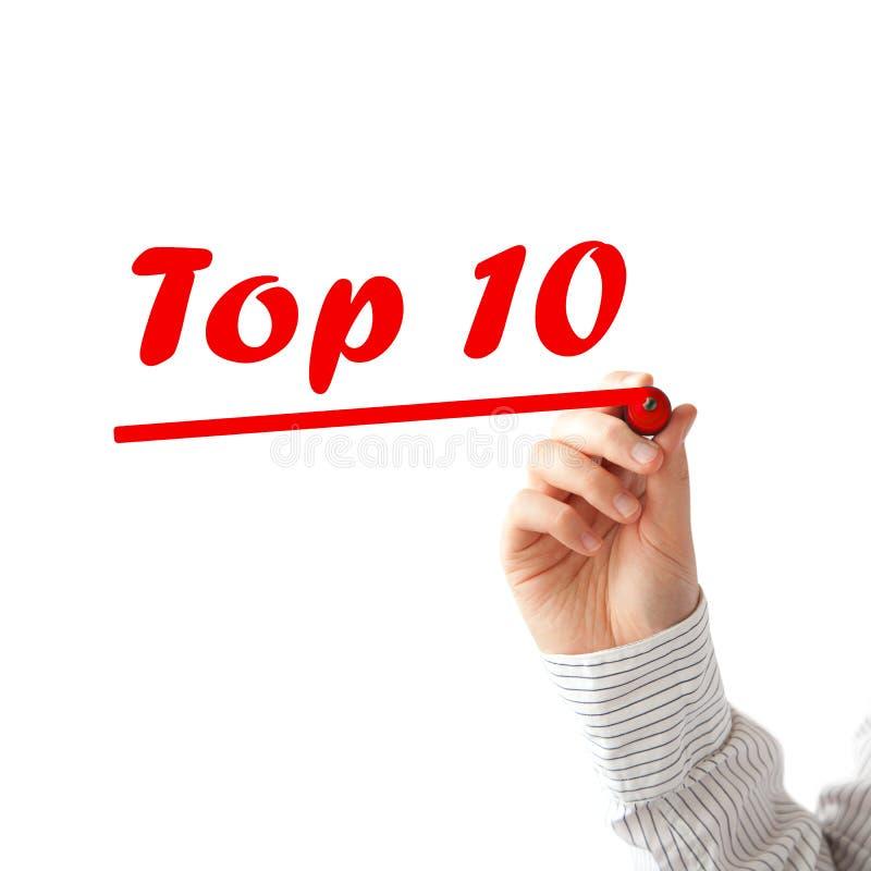 Lista del principale 10 immagini stock