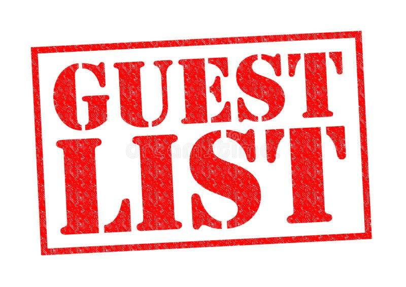 Lista dell'ospite illustrazione vettoriale