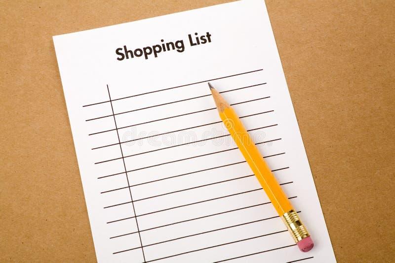 Lista di acquisto immagini stock libere da diritti