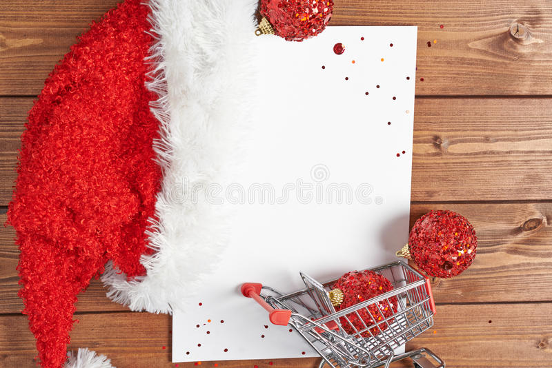 Lista di acquisto per il Natale fotografia stock