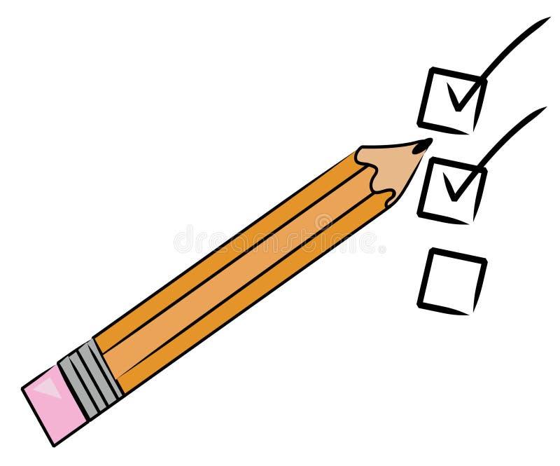 Lista di assegno illustrazione vettoriale