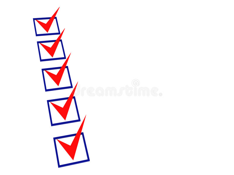 lista di controllo 3d royalty illustrazione gratis