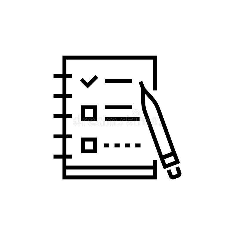Lista di controllo - allini la singola icona isolata di progettazione illustrazione vettoriale