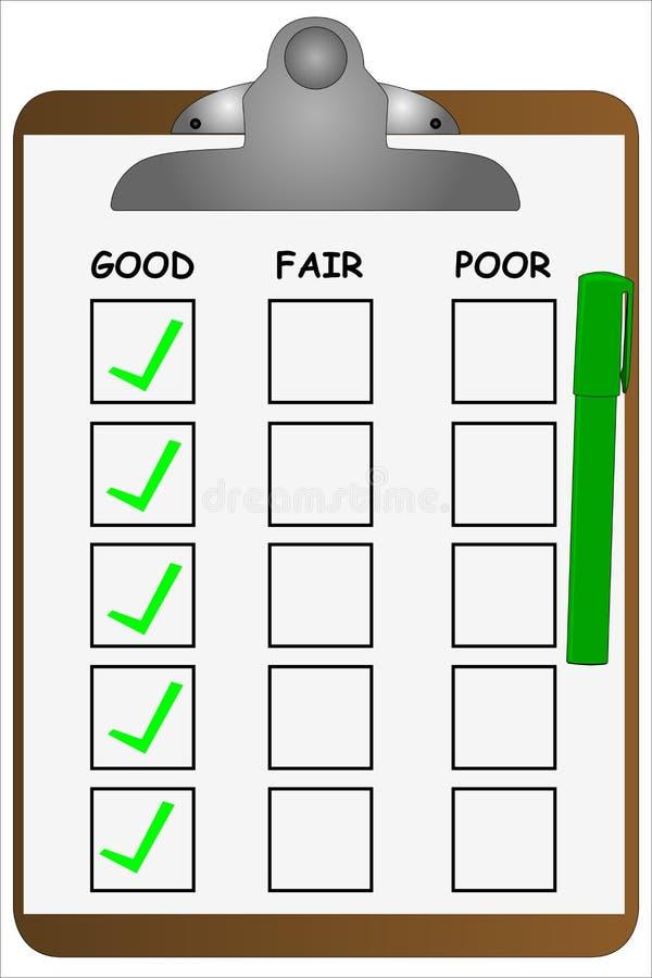 Lista di controllo della lavagna per appunti illustrazione di stock
