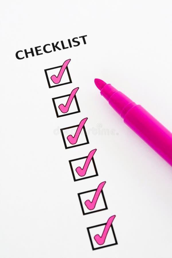 Lista di controllo dentellare immagine stock libera da diritti