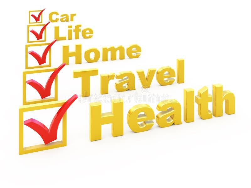 Lista di controllo di assicurazione illustrazione vettoriale