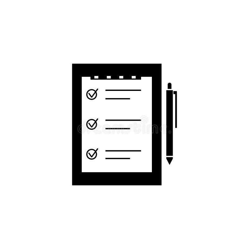 Lista di controllo o fare l'icona di vettore della lista illustrazione vettoriale