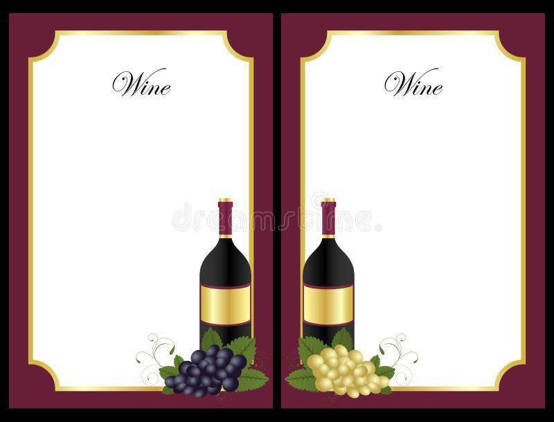 Lista di vino illustrazione vettoriale