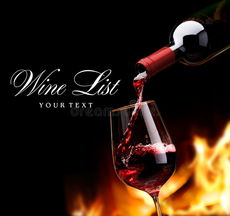 Lista di vino di arte fotografia stock