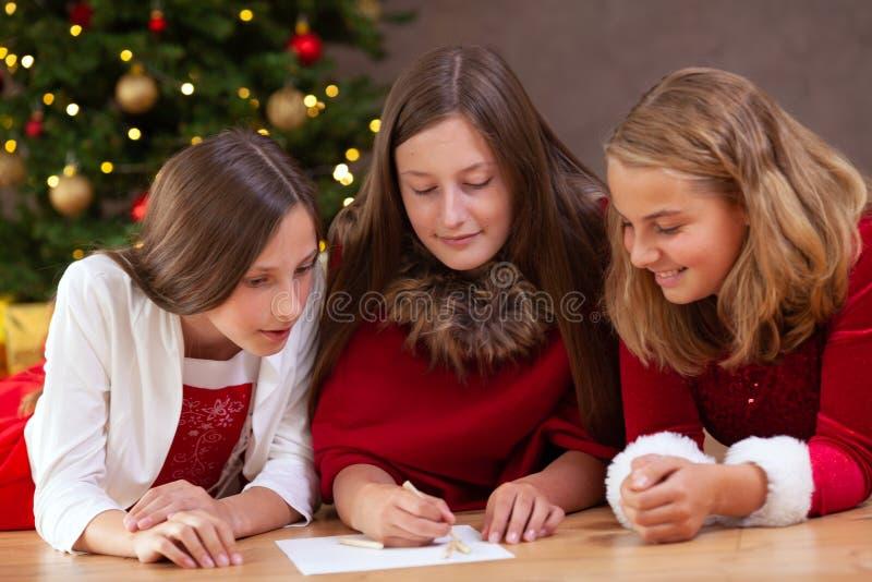 Lista do Natal de desejos fotos de stock
