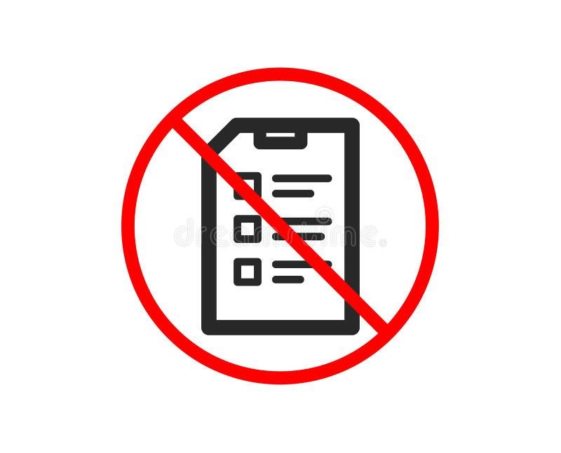 lista kontrolna dokumentu ikona Kartoteka znak wektor ilustracji