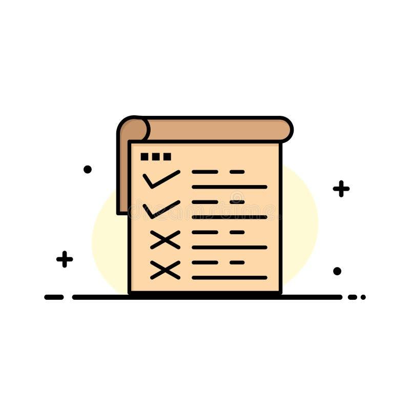 Lista kontrolna, testowanie, raport, Qa logo Biznesowy szablon p?aski kolor royalty ilustracja