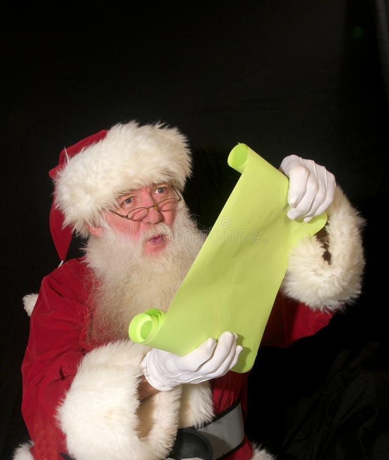 lista s Santa zdjęcia stock