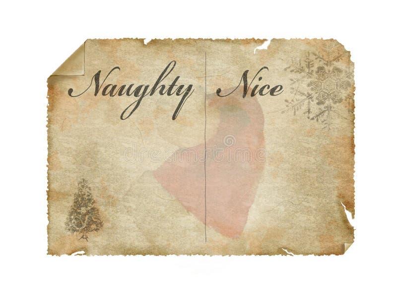 lista s santa arkivbild