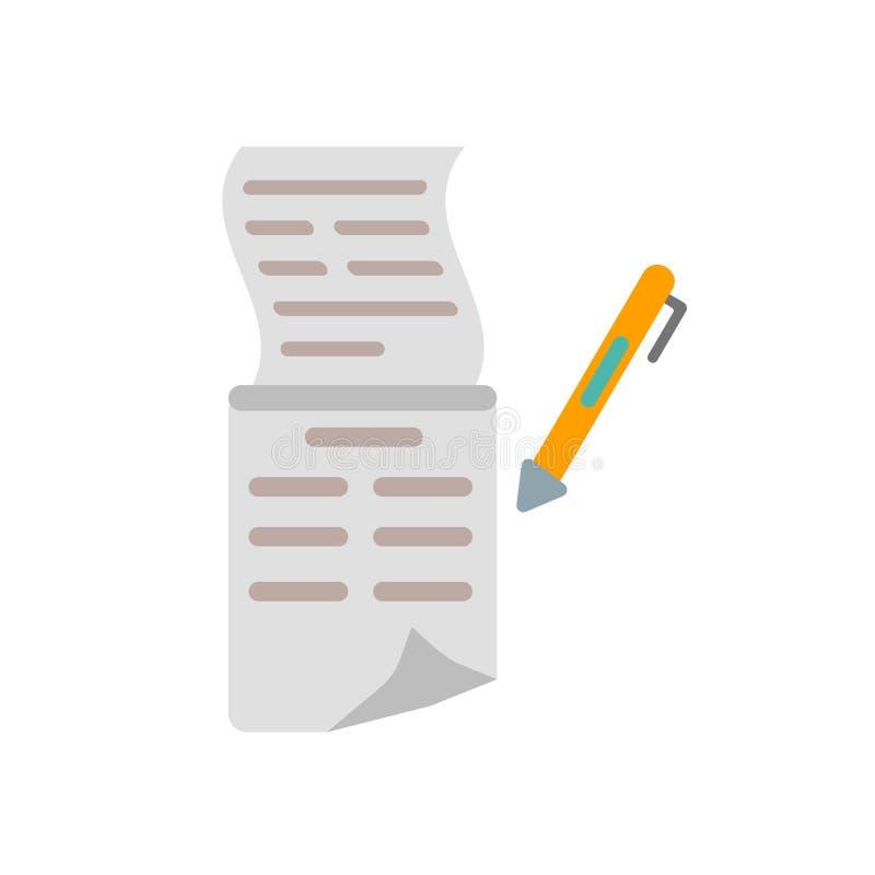 Lista symbolsvektorn som isoleras på vit bakgrund, listatecken stock illustrationer