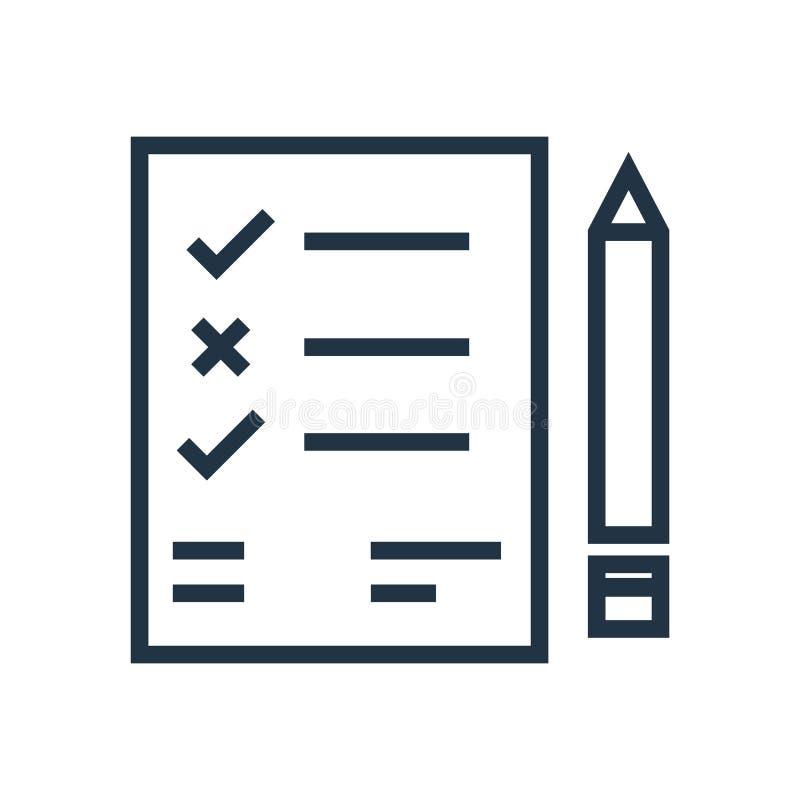 Lista symbolsvektorn som isoleras på vit bakgrund, listatecken vektor illustrationer