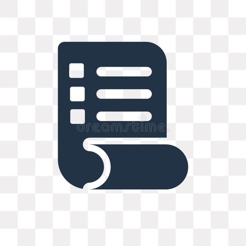 Lista vektorsymbolen som isoleras på genomskinlig bakgrund, listatrans. stock illustrationer