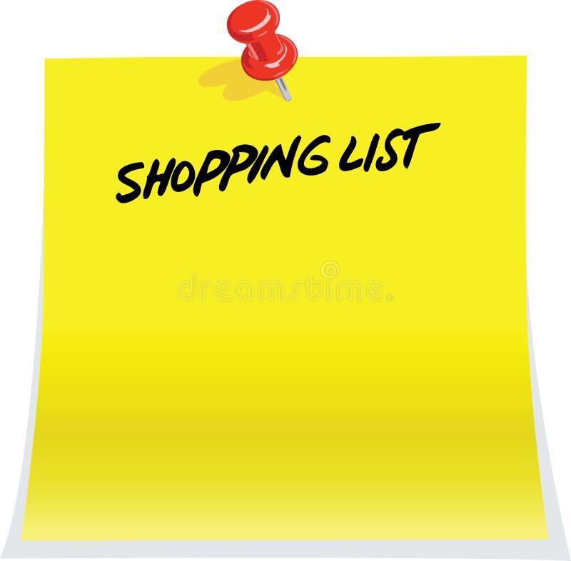 lista zakupy ilustracji