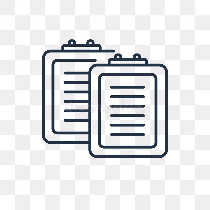Listavektorsymbol som isoleras på genomskinlig bakgrund, linjär lista stock illustrationer