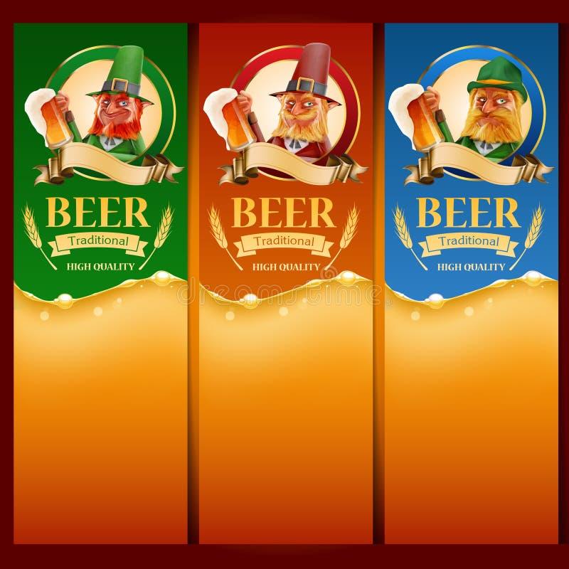 Liste d'elfs de bière illustration stock