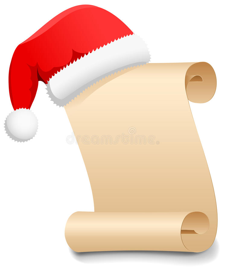 Liste d'objectifs de Noël illustration stock