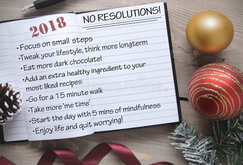 liste de 2018 anti résolutions image stock