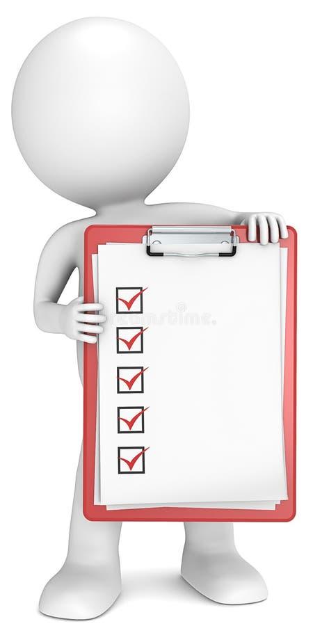 Liste de contrôle. illustration libre de droits